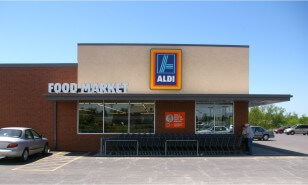 Commercial electric services performed at Aldi